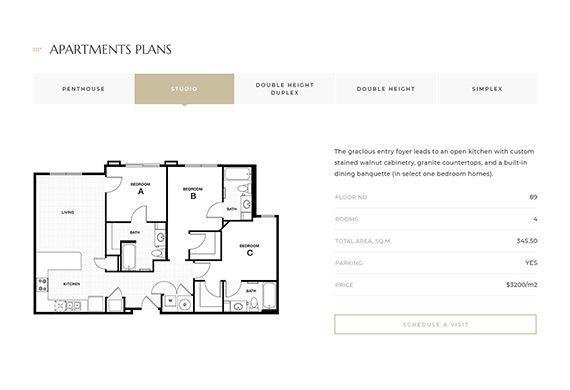 landing apartment plans